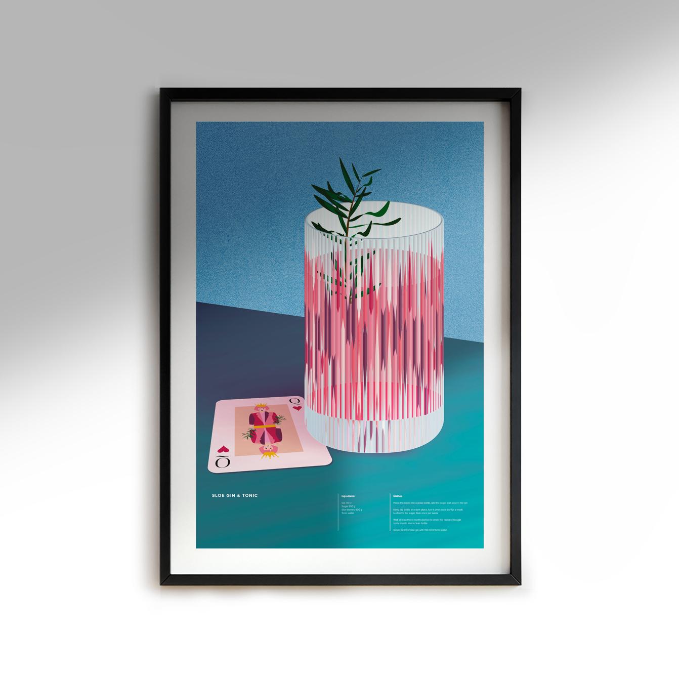 Sloe Gin & Tonic Print